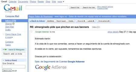 Google responde a mi mail